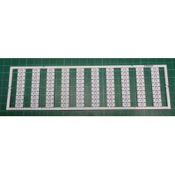 WMB marking card, as card, MARKED, F2 (10x), not stretchable, Vertical marking, snap-on type, white