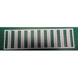 WMB marking card, as card, MARKED, 11 ... 20 (10x), not stretchable, Vertical marking, snap-on type, white