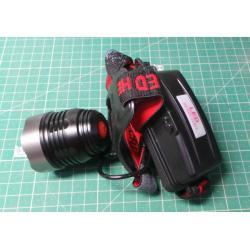 Svítilna LED 8W ,čelovka ZT-6502, napájení 2x18650