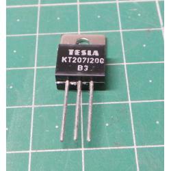 Triak KT207/200 200V/5A, TO220, balení 50ks
