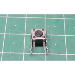 TACT microswitch, SPST-NO, pol: 2, 0.05A / 12VDC, THT, is not, 1N, 6x6mm