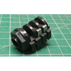 Zásuvka, Jack 6,3mm, zásuvka, mono, s vypínačem, do panelu, THT