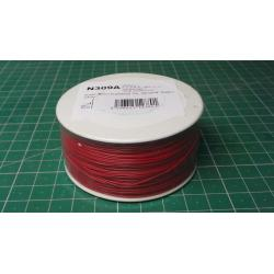Wire-cable 0,05mm2 Cu, red