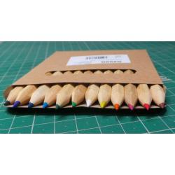 Set of crayons 9 cm, 12pcs