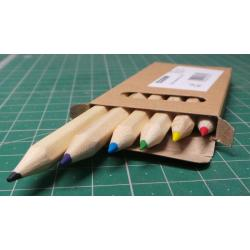 Set of crayons 9cm 6pcs