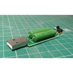 Zátěžový rezistor pro odběr 1A nebo 2A a USB