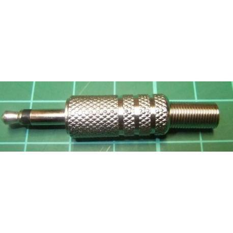 Jack Plug, 3.5mm, Mono, All Metal