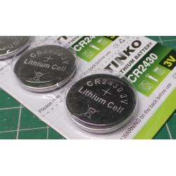 Battery TINKO CR2430 3V lithium