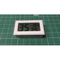 Digital thermometer and hygrometer FY-11 white