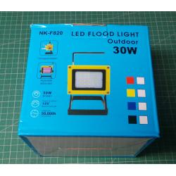 LED rechargeable 30W portable rechargeable