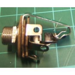 Jack Socket, 6.3mm, Stereo, Open Frame, Panel Mount