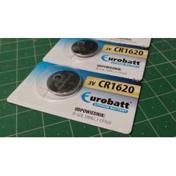EUROBATT CR1620 3V lithium battery