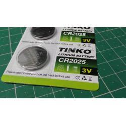 Battery TINKO CR2025 3V lithium