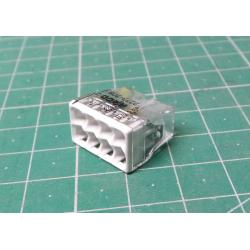 Wago terminal 2273-208, 0.5 - 2.5 mm2, 8-pole, transparent / white