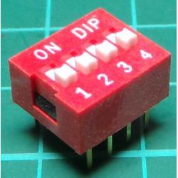 Switch 4xSPST, DIL