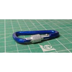 Karabina modrá 44299 - 4 / 50 mm s pojistkou