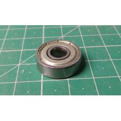Ball bearing 608ZZ, 22x7mm for 8mm shaft