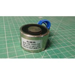 Electromagnet P40 / 25 12VDC, 30kg