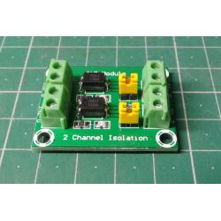 Optical separation module with PC817 - 2 channels