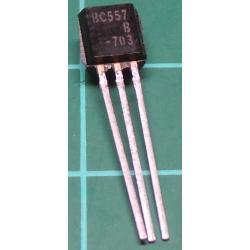 BC557B, PNP Transistor, 50V, 0.1A, 0.5W