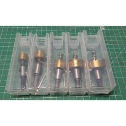 Set of HSS drill-jigs, diameter 16-30mm, 5pcs