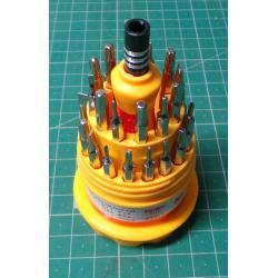 Bit set with screwdriver JL-1162, 30 + 1