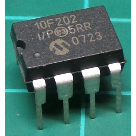 pic10f202-I/P, 8 bit, 4Mhz microcontroller