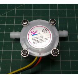 Průtokoměr YF-S401 3,5mm, 0,3-6l/min pro Arduino