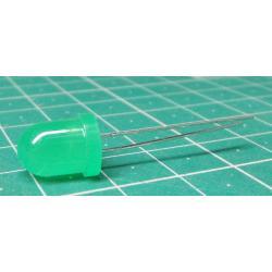 * New Foto * LED, Green, 8mm, 25mCd, 20 mA, 40°
