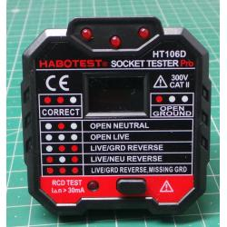 Socket tester 230V HT106D