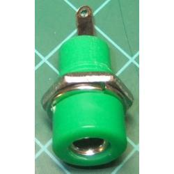Banana Socket, 4mm, Green