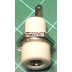 Banana Socket, 4mm, White