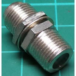 F type Socket to F Type Socket, Adaptor