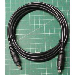 Kabel optický TOSLINK-TOSLINK 4mm/2m plast