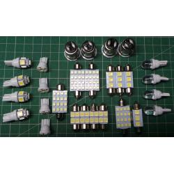 28x Car Auto Interior LED Lights For Dome License Plate Lamp Accessories Kits