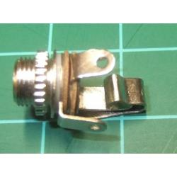 Jack Socket, 3.5mm, Mono, Open Frame, Panel Mount, with Switch
