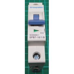 Jistič Showpelec SPB7-63 B16 230V/16A/B 1fázový na DIN lištu