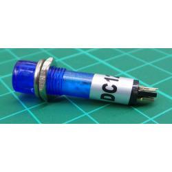 Kontrolka 12V LED, modrá do otvoru 7mm