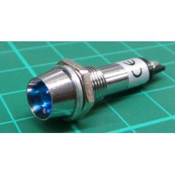 kontrolka 12V LED modrá do otvoru 8mm