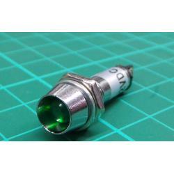 kontrolka 12V LED zelená do otvoru 8mm