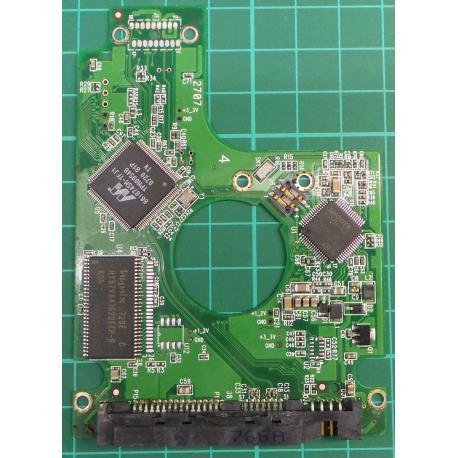 "PCB: 2060-701450-011 Rev A, WD800BEVS-60RST0, 80GB, 2.5"", SATA"