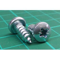 Screw, Self tapping, pan head, Pozi, 12mmx5