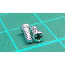 Screw for plastic, 5mmx1.6, Cap head, Phillips