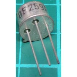 BF259, NPN Transistor, 300V, 100mA, 500mW, Old Stock