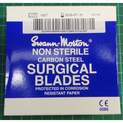 Non sterile pack of 5 surgical blades scalpel, 10A