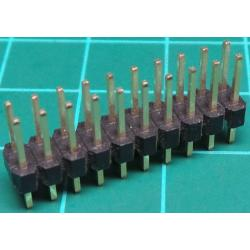 20 Pin DIL Header, Male, 2.54mm Pitch