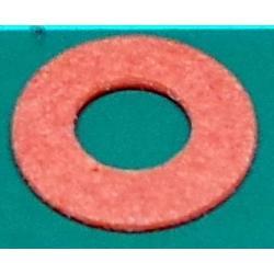 M3 Washer, Fibre, Red, 6.5mm diameter