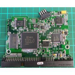 """PCB: 2060-001092-007 Rev A, WD800, WD800BB-00CAA1, 80GB, 3.5"""", IDE"""