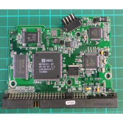 """PCB: 2060-001092-007 Rev A, WD Caviar, WD600BB-75CAA0, 60GB, 3.5"""", IDE"""