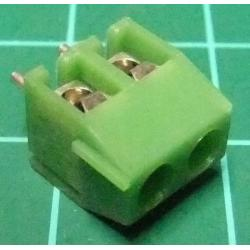 PCB Terminal Screw x2, Right Angle Exit, 9x9x7mm